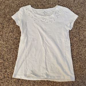 Talbots Short Sleeve Tee White